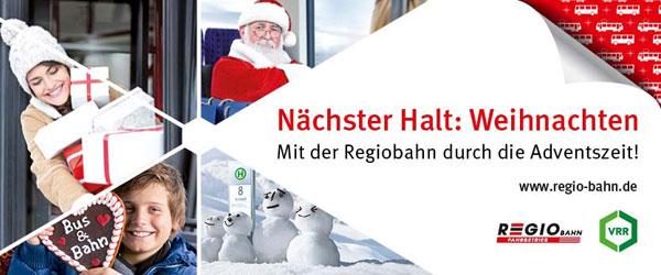 Mit der Regiobahn durch die Adventszeit!